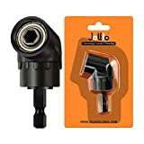 JelBo 105° Right Angle Drills, 1/4' Hex Shank Right Angle Drill Adapter, Drill Attachment of Power Tools Accessories for Screwdriver Bits, Drive Socket Adapter by Electric Drill(Black)