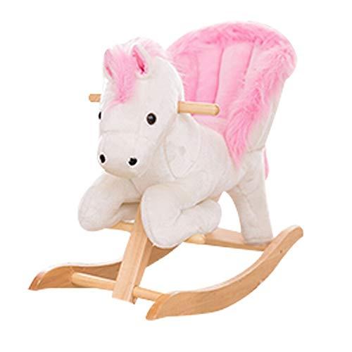 Asffdhley Cheval à Bascule Ride on Rocking Horse de la Petite enfance Jouets éducatifs Jouet d'équitation for Enfants avec des chansons for Les garçons ou Les Filles pour Les Tout-Petits et Les bébés