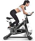 Ejercicio spin Bicicleta estática Home Home Gym Training Ciclismo Fitness Cardio Bike con Tableta de Monitor LCD y Tableta de 18 kg y tabletas de Bebidas