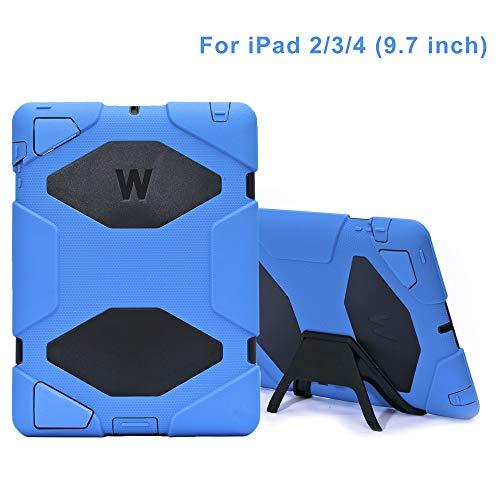 Funda para iPad 2, iPad 3, iPad 4, 2018, protección Completa para niños, Protector para iPad 2/3/4 (Azul)