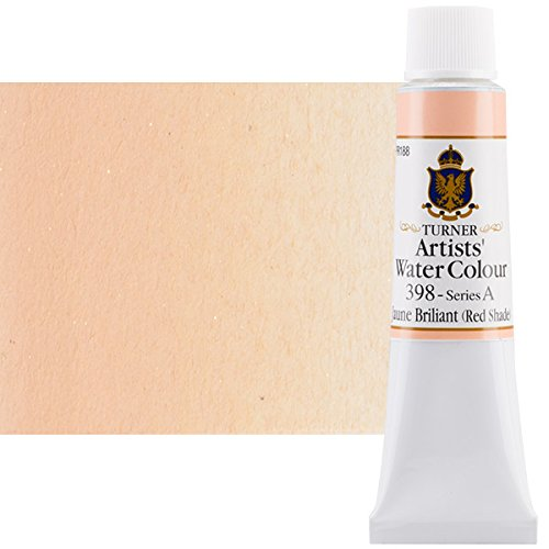 Turner Concentrated Professional Artists' Watercolor Paint 15ml Tube - Jaune Briliant Red Shade
