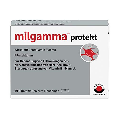 milgamma protekt Vitamin B1 Filmtabletten : Bei einer auf einem Vitamin-B1-Mangel beruhenden Neuropathie, Geeignet für Diabetiker, mit Benfotiamin, 30 Stück