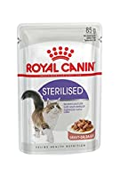 ROYAL CANIN Sterilised Cat Food in Gravy Pouch 12 x 85g