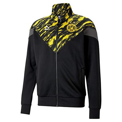 PUMA BVB Iconic MCS Herren Fußball-Trainingsjacke Puma Black-Cyber Yellow XS
