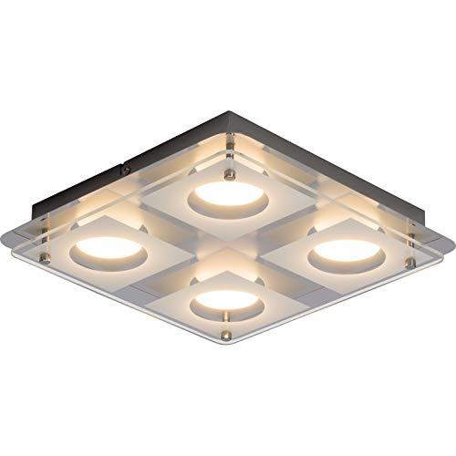 Charon Plafonnier LED mural et plafonnier chromé Easydim – Intensité variable avec interrupteur traditionnel, 5 W, 500 lm, 3000 K