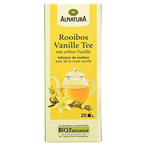 Alnatura Bio Rooibos Vanille Tee mit echter Vanille, 20 Beutel, 30g