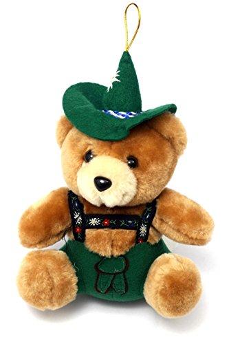 Bavariashop Jodelbär, Bayerischer Teddy, Trachtenhut und Jodelfunktion, 17 cm, Farbe Braun, Zünftige Geschenkidee