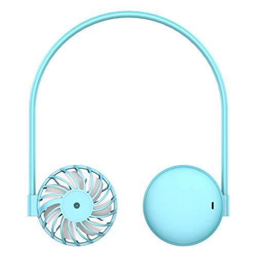 WINBST Ventilador de cuello portátil, mini ventilador USB, 3 niveles de velocidad, manos libres, para correr, escalar, viajes, verano