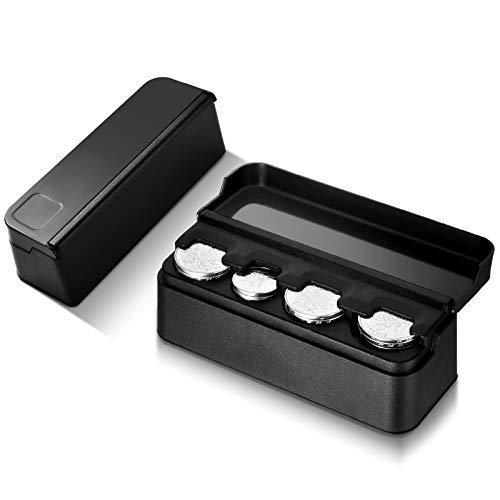2 Pieces Automotive Coin Storage Holders Black Car Coin Change Cases Car Coin Holders Decoration for Car, Truck, RV Interior Accessories
