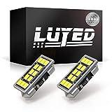 LUYED LEDバルブ T8×28 29mm 両口金タイプ 真っ白 ホワイト 2個入り 12連 600ルーメン 超高輝度 3020SMD 室内灯 ルームランプ ラゲッジライト マップランプ