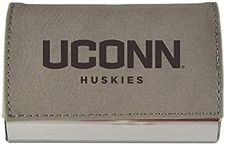 Velour Business Cardholder-University of Connecticut-Grey