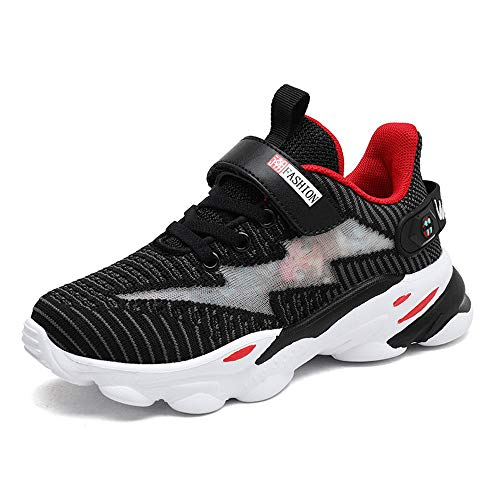 Junge Outdoor-Sportschuh, Plattform-Schuhe, Non-Slip, Orthopädische Schuhe, Atmungsaktiv, Leicht, Tragbar, Outdoor Training Laufschuhe,Schwarz,EUR28/190MM
