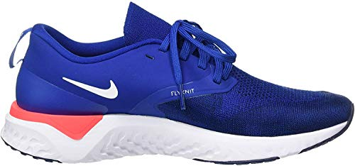 Nike Herren Odyssey React 2 Flyknit Laufschuhe, Mehrfarbig (Indigo Force/White-Blue Void-Red Orbit 400), 44.5 EU (9.5 UK)