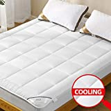 ANALIN Mattress Pad Twin XL Size with Deep Pocket Microplush Mattress Topper with Fitted Skirt Quilted Stretch Pillow Top