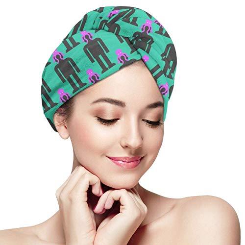QHMY Serviettes de Cheveux de mer Profonde (32) Capsules de Cheveux à séchage Rapide pour Spa de Bain