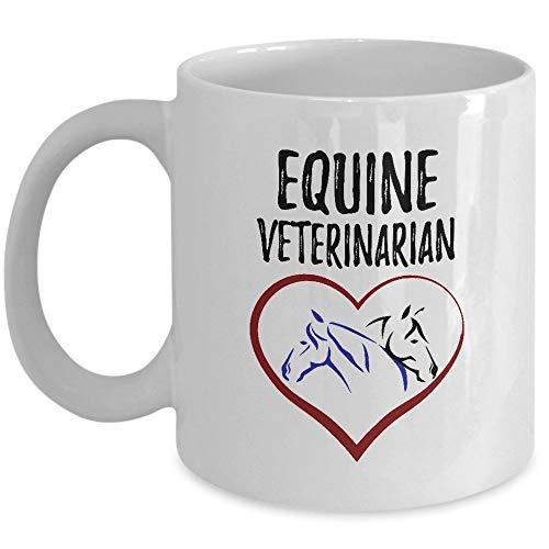 Mug Veterinario Equino - Veterinario De Caballos - Estudiante Pre-Veterinario - Veterinario - Futuro Veterinario - Técnico Veterinario Regalo Divertido Personalizado Taza De Té Taz