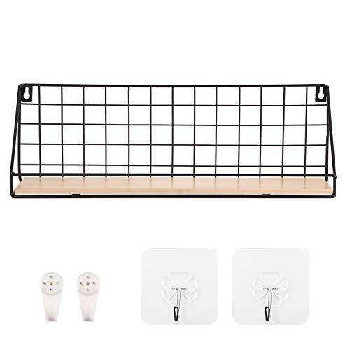Generic Pack de 2 organizadores de pared con agujeros para colgar en la pared nocturna. Elegante soporte para mando a distancia y organizador de pared, incluye 2 adhesivos de montaje fuertes (grande)