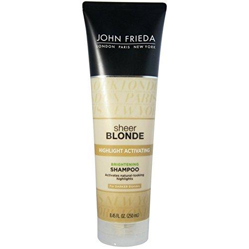 John Frieda Sheer Blonde Highligjt Activating Daily Shampoo, Honey to Caramel, 8.45 Ounce (Pack of 6) by John Frieda