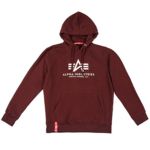 ALPHA INDUSTRIES Herren Basic Hoody Sweatshirt, Deep Maroon, 43.73