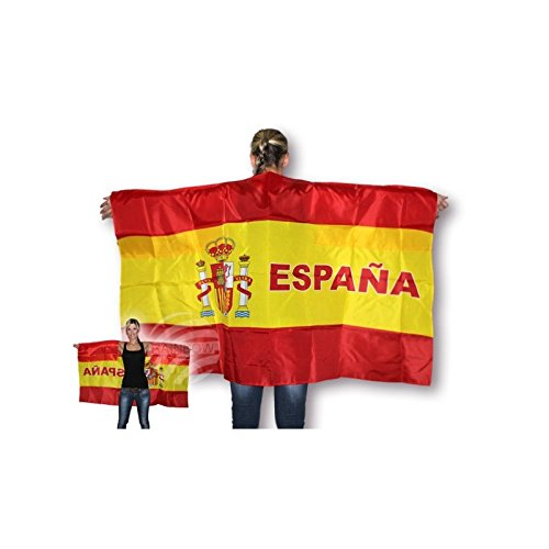 Midi Shopping - Cape Supporter Drapeau Espagne Flag Cloak 150 x 90 cm UF-08