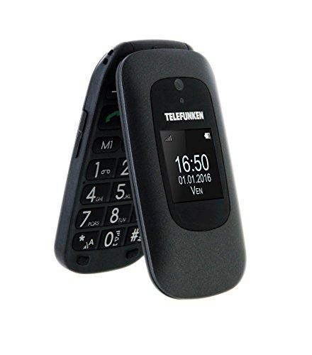 TELEFUNKEN TM250 - Teléfono móvil, Negro
