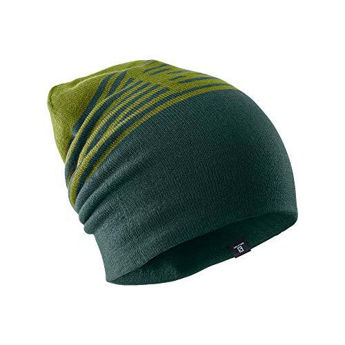 Salomon Unisex Umkehrbare Multisport-Mütze, FLAT SPIN Beanie, Khaki (Avocado)/Grün (Green Gables), Einheitsgröße, LC1143200