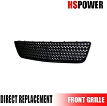 HS Power Black Finished Sport Mesh Front Lower Bumper Grill Grille Cover Abs for 2006-2009 Chevy Impala