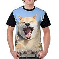 柴犬 (2) 新品 ゆったり Tシャツ 3dプリント おしゃれ メンズ 半袖 通気性 カジュアル 個性的 薄い トップス かっこいい 男女兼用家族セット 人気 夏服 (カスタマイズ可能)