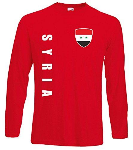 aprom Syrien Langarm T-Shirt Trikot LS-Spa Rot Longsleeve (L)