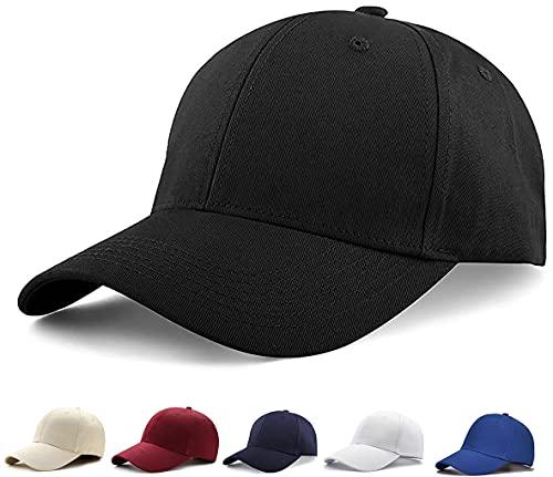 Etyepoh Unisex Kappe - Baseball Cap für Herren und Damen, Verstellbar Reine Farbe Baseboard Baseballkappe Mütze (A-schwarz)