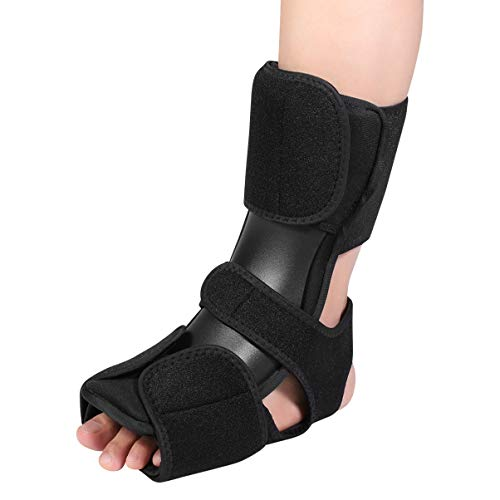 Healifty Foot Orthotic Brace Plantar Fasciitis Orthotic Brace Night Foot Support Drop Foot Brace for Achilles Pain Relief Stabilizer Foot Support (Black)