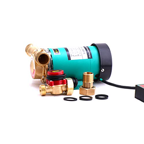 ZHKUO Hot Water Pressure Booster Pump 1 Inch Outlet 120W Solar Water...