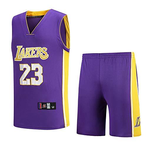 Wsaman Top de Malla Bordada, Camiseta de Baloncesto para Hombres 23 Jerseys Transpirable Bordado Ropa de Entrenamiento para Hombres Camiseta de Baloncesto para Hombre,Púrpura,XXXL