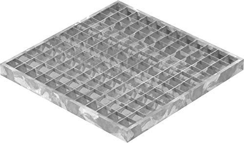 Fenau   Garagen-Gitterrost/Baunorm-Rost Maße: 390 x 390 x 30 mm - MW: 30 mm / 30 mm (Vollbad-Feuerverzinkt) (Passend für Zarge: Fenau 400 x 400 x 33 mm) Industrie-Norm-Rost für Lichtschacht