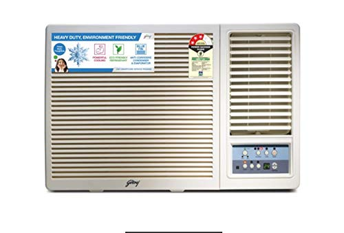 Godrej 1.5 Ton 3 Star Window AC (Copper, 2021 Model, AC 1.5T GWC 18UTC3-WSA, White)