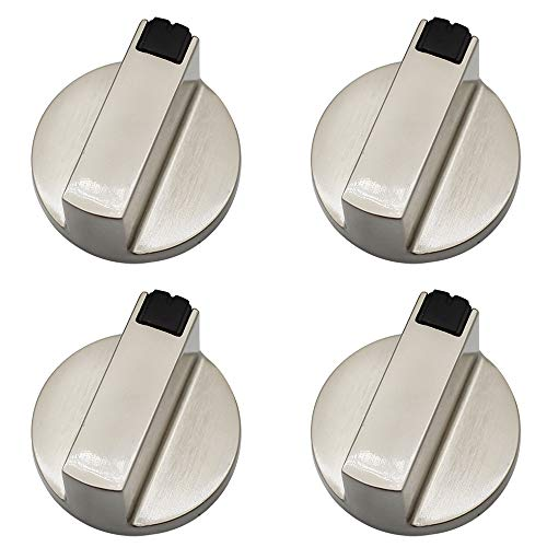 Dylan-EU 4 Pezzi 6 mm Gas Stufe Controllo Manopole Pomelli Universali in Metallo di Controllo Interruttore per Forno a Gas Piano Cottura a Gas