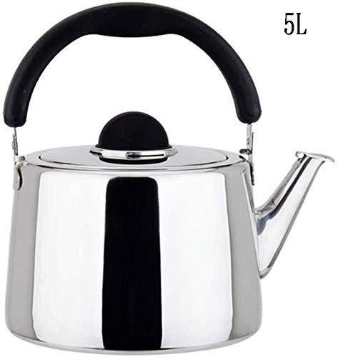 Gasfornuis Ketel met fluitje / 304 RVS Gasfornuis Fluitketel/Kitchen Induction Fluitketel/gemakkelijk schoon te maken Geschikt for alle Hob Types inclusief inductie (Size : 5L)