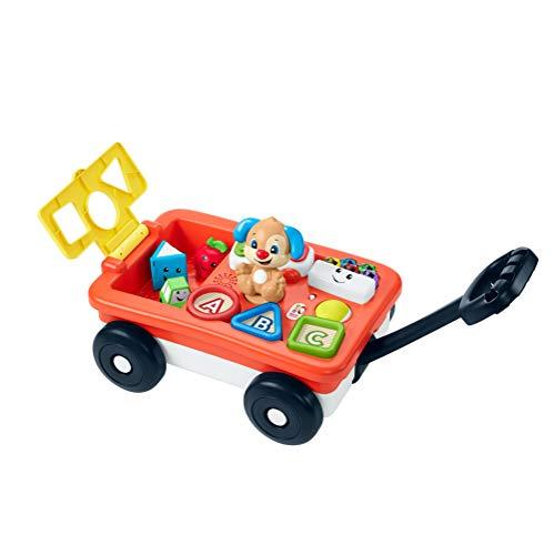 Fisher-Price GHV01 - Lernspaß Spielzeug Bollerwagen mit Lernspiele ab 6 Monaten, Deutsche Sprachversion