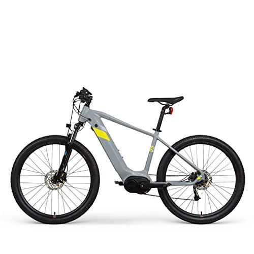 HMEI Bicicleta eléctrica para Adultos 30MPH 250W Motor 27.5 Pulgadas Bicicleta eléctrica de montaña 36V 14Ah Ocultar batería de Litio Ebike (Color : Gris)