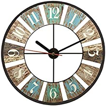 Fashionable Wooden And Wood Printed Analog Wall Clock,MGT159