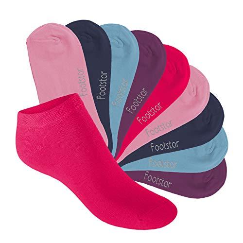 Footstar Kinder Sneaker Socken (10 Paar) - Sneak it! - Sweet Colours 27-30