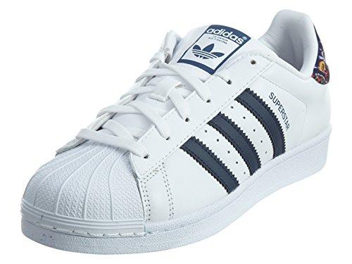 adidas Superstar Women's Shoes White/St Dark Slate/White s80481 (11 B(M) US)