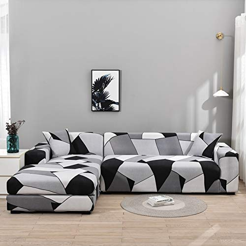 Fundas de sofá Chaise Longue para Sala de Estar Funda elástica para sofá Estiramiento en Forma de L Funda para sofá de Esquina A20 1 Plaza