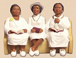 African American Church Pews Figurines Deaconess Board