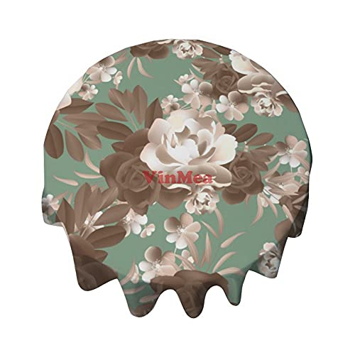Round Tablecloth 36 Inch Vintage Floral Decorative Table Cover For Dining Table, Buffet Parties And Camping
