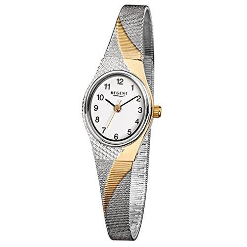 Regent 75440999 Schmuckarmband Damenuhr Weiß Bicolor