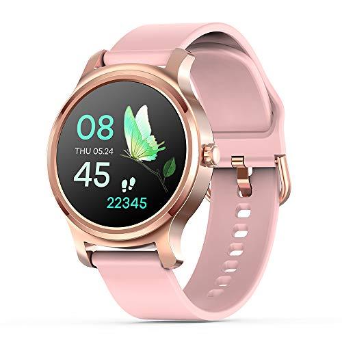 Otti-3S Smartwatch Fitness Tracker Cardiofrequenzimetro Effettuare/Risponde al telefono viva voce Notifiche Facebook/whatsapp IP67 Impermeabile Android/IOS (Rosa)