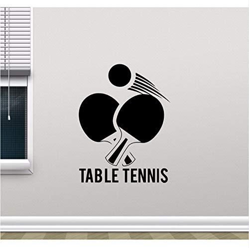 Finloveg Tischtennis Wand Vinyl Aufkleber Ping Pong Sport Design Wandkunst Wand Gym Wand Poster Dekoration Sport Liebhaber Tapete 42X54 Cm