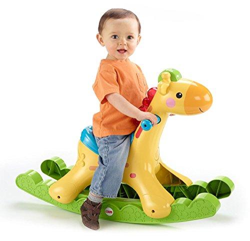 Mattel Fisher-Price BBW07 - Schaukel-Giraffe, mit Licht und Soundfunktionen