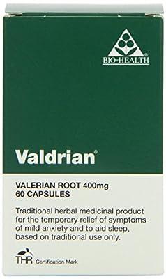 Bio Health 400mg Valdrian Valerian Root - Pack of 60 Capsules